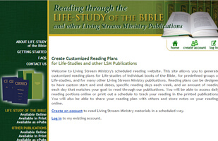 Ministry Reading Scheduler